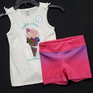 🆕️ Carter's Ice cream tee & shorts by 90°
